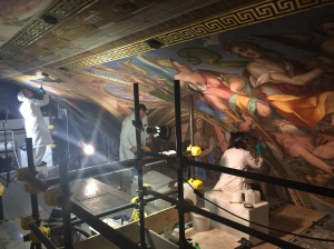Constantine Room Ceiling Art Restoration (Side View)
