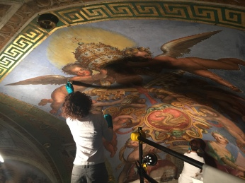 Constantine Room Ceiling Art Restoration
