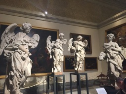 Four of the Bernini Angels, under Reconstruction