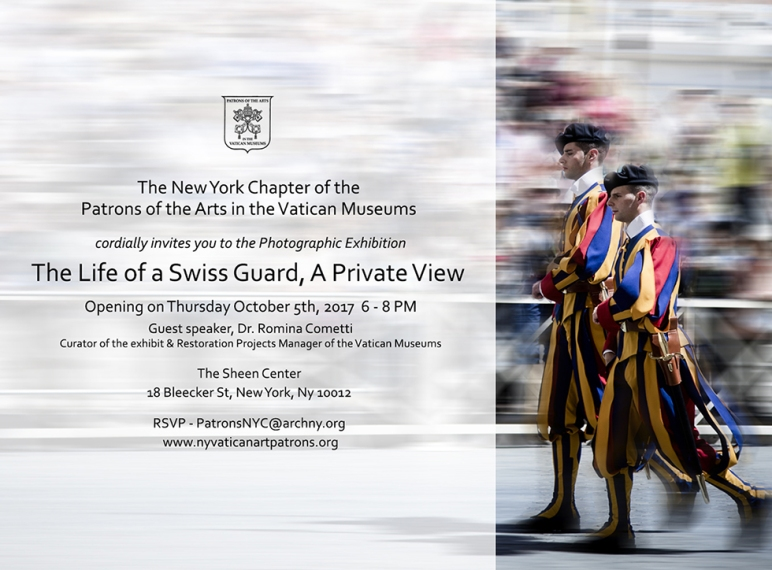 "Invitation to ""The Life of a Swiss Guard"" Exhibit"